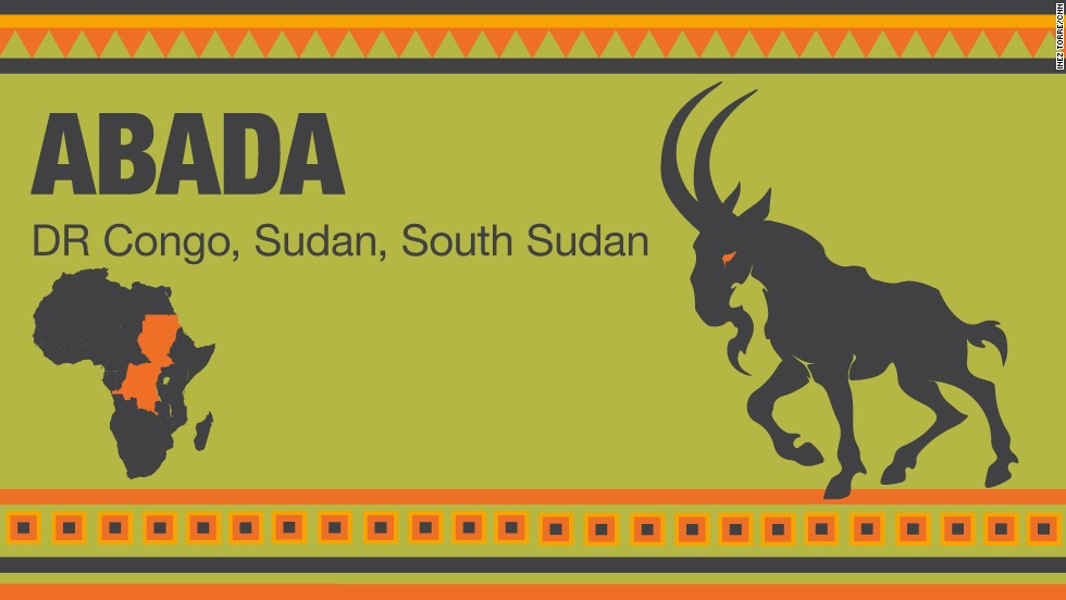 Mythical Creature, 'Abada' – a unicorn with two horns from the Congo